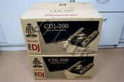 2 x Pioneer CDJ-200 CD/MP3 Player Pro DJ Gear CDJ200